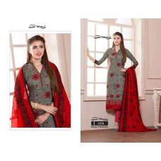 2238 RED AND GREY HOLLYWOOD YOUR CHOICE PRINTED COTTON SALWAR KAMEEZ