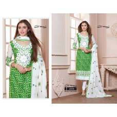 2244 GREEN AND WHITE HOLLYWOOD YOUR CHOICE PRINTED COTTON SALWAR KAMEEZ