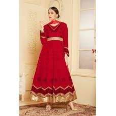 Indian Maxi Red Party Evening Wedding Anarkali Suit (Ready Made XXL)