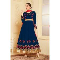 Indian Maxi Blue Party Evening Wedding Anarkali Suit (Ready Made XXL)