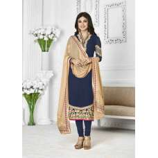 1128 BLUE ZAAINA BY KHWAAB STRAIGHT GEORGETTE SALWAR KAMEEZ SUIT