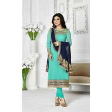 1133 TURQUOISE ZAAINA BY KHWAAB STRAIGHT GEORGETTE SALWAR KAMEEZ SUIT