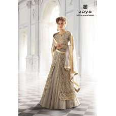 12003-A LILAC GREY ZOYA SHADES STYLISH WEDDING WEAR OUTFIT(Beige Colour)