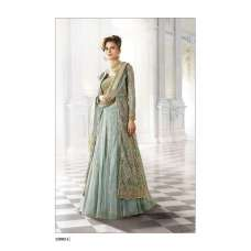12003-C GREEN ZOYA SHADES WEDDING WEAR DRESS