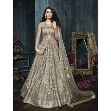 22002 GREY ZOYA CELEBRITY HEAVY EMBROIDERED INDIAN BRIDAL WEDDING LEHENGA