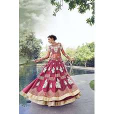 16001 PINK ZOYA CRYSTAL WEDDING WEAR LEHENGA
