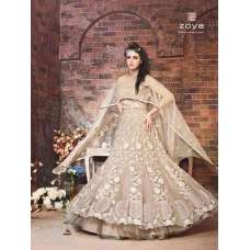 18003 BEIGE ZOYA STYLE EMERALD WEDDING ANARKALI SUIT