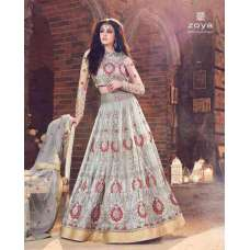 SILVER GREY EMBELLISHED WEDDING DRESS LEHENGA