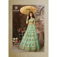 18004-C LIGHT BLUE ZOYA EMERALD WEDDING WEAR LEHENGA