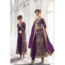 12003-Q PURPLE ZOYA  STYLISH WEDDING WEAR (4 PIECE) OUTFIT
