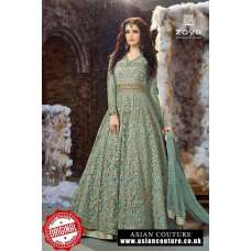 ZOYA EMERAID ZY-18001D TEAL WEDDING DRESS
