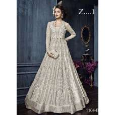 22004-D OFF WHITE EMBROIDERED INDIAN BRIDAL WEDDING LEHENGA