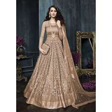 22002-B LIGHT RUST HEAVY EMBROIDERED INDIAN BRIDAL WEDDING LEHENGA