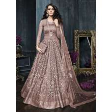 22002-A NUDE HEAVY EMBROIDERED INDIAN BRIDAL WEDDING LEHENGA