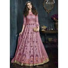 22001-C PINK HEAVY EMBROIDERED INDIAN BRIDAL WEDDING LEHENGA