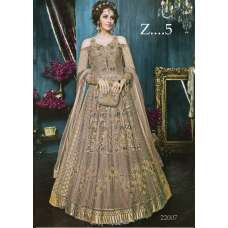 22005-A NUDE HEAVY EMBROIDERED INDIAN BRIDAL WEDDING LEHENGA