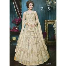 22005-D OFF WHITE HEAVY EMBROIDERED INDIAN BRIDAL WEDDING LEHENGA