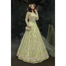 NILE GREEN INDIAN DESIGNER WEDDING AND BRIDAL GOWN
