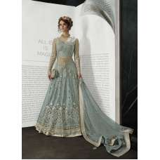 GREY INDIAN DESIGNER WEDDING AND BRIDAL GOWN