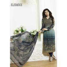 13103 GREY ZUBEDA STYLISH AYESHA TAKIA DESIGNER EMBROIDERED PARTY WEAR