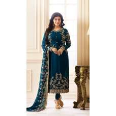 18012 TEAL BLUE SIMAR REENAZ AYESHA TAKIA PARTY WEAR ELEGANT SALWAR SUIT