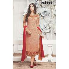 12801 PEACH ZUBEDA ROSHNI PARTY WEAR SALWAR SUIT